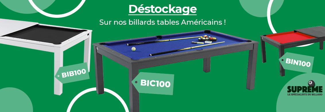 Déstockage billard table américain