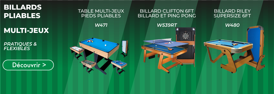 billard, pingpong, babyfoot, dart