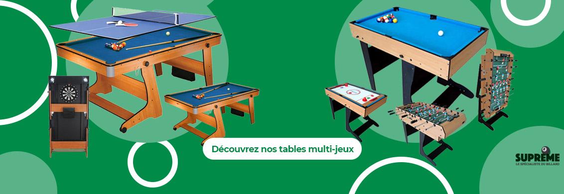 Table multi-jeux elles sont arrivées