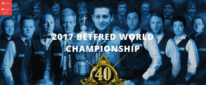 championnat du Monde de Snooker 2017