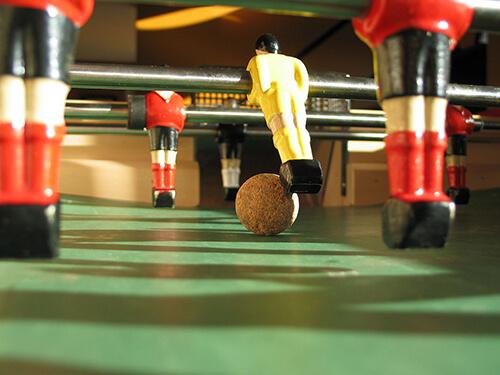 Le contrôle de balle au baby-foot