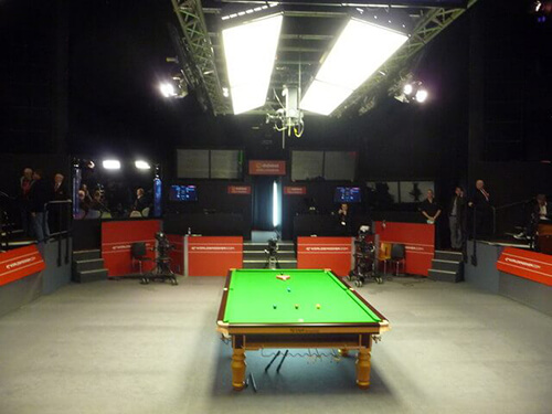Le Crucible Theater, un temple du snooker qui a vu Stephen Hendry remporter sept titres mondiaux