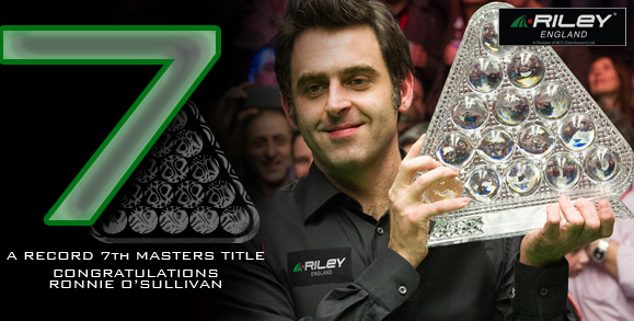 Ronnie vainqueur des Masters pour la 7éme fois