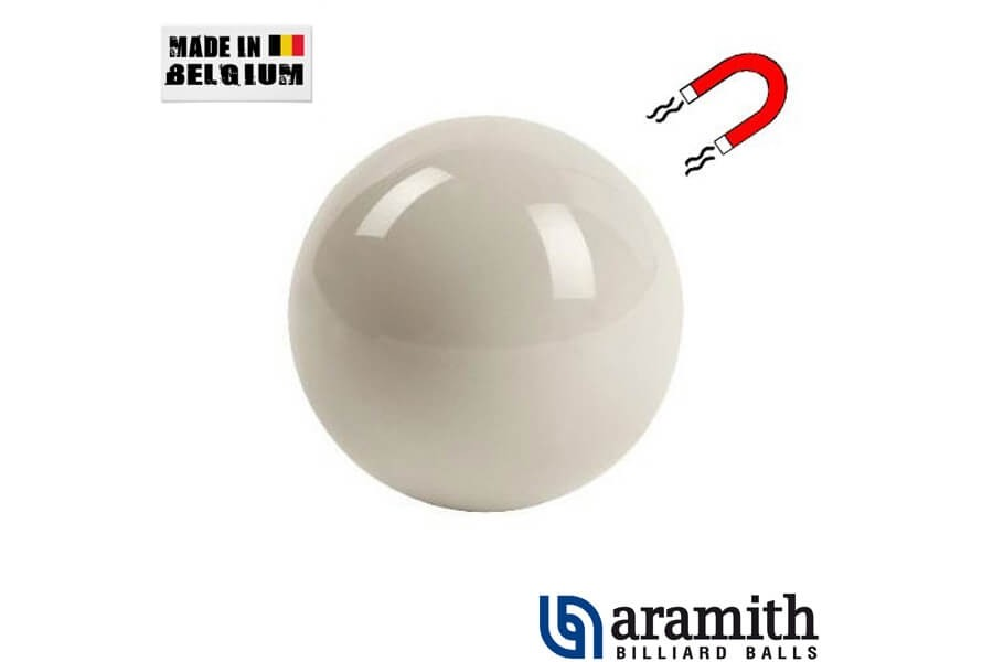 Bille blanche Magnetique Aramith 57 mm