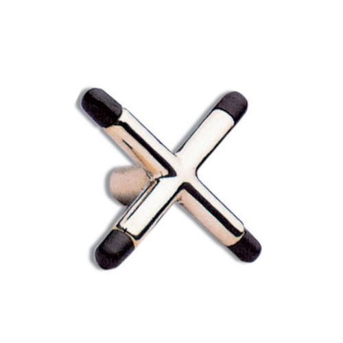 Reposoir en X laiton avec embouts plastique
