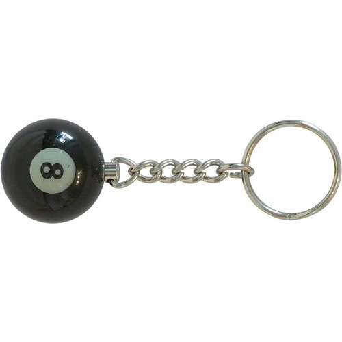 Porte-clefs boule de billard n°8