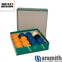 Billes Pool Aramith Jaune & Bleu 50,8 mm Premier
