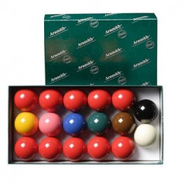 Billes Snooker 17 billes Aramith 50.8 mm