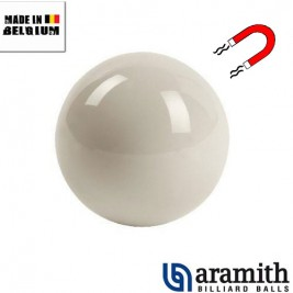 Bille blanche Magnetique Aramith 57,2 mm