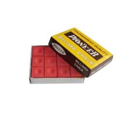 Boîte de 12 craies standards Rouge