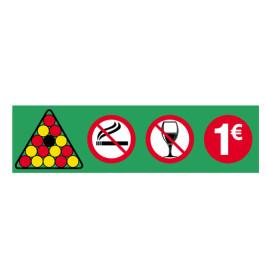 Autocollant Placement billes 1 euros