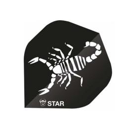 Ailettes Bull's B Star Noire (3) A-Standard
