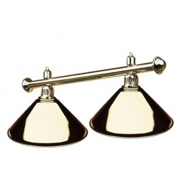 Luminaire laiton 2 globes Laiton