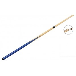 Queue billard Pool 145 cm 1/2 Bleue