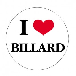 Sticker I Love Billard