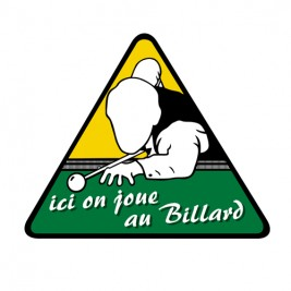 Sticker Ici on joue au Billard