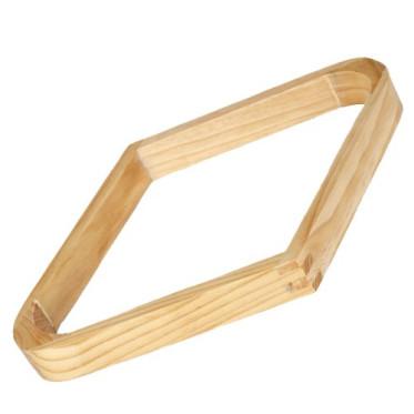 Losange bois chêne clair 57 mm