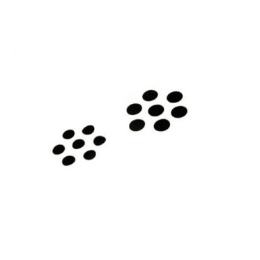 Spot Noir de 12.5 mm (par 50)