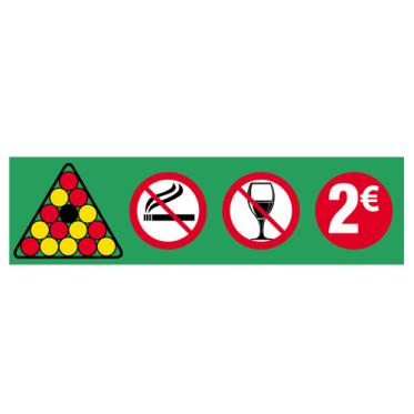 Autocollant Placement billes 2 euros