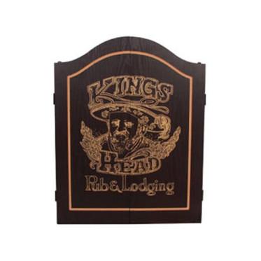 Armoire pour cible en crin Kings Head Noir et or