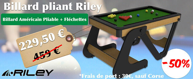 déstockage billard pliable + fléchettes Riley