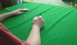 Contrôle du tapis de billard