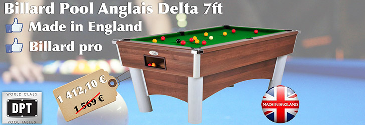 Billard Pool Anglais Delta 7ft