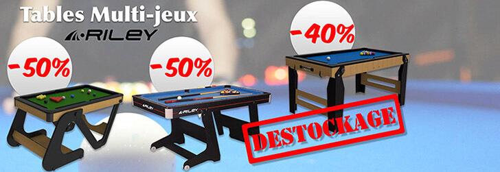 Déstockage Tables Multi-Jeux