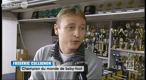 Frédéric Collignon : champion du monde de babyfoot en 2012
