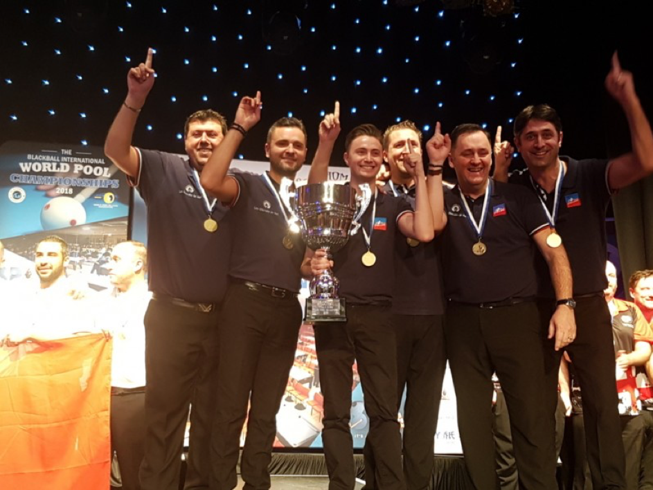 Championnats du monde de billard Blackball 2018 : l'équipe de France en Or !