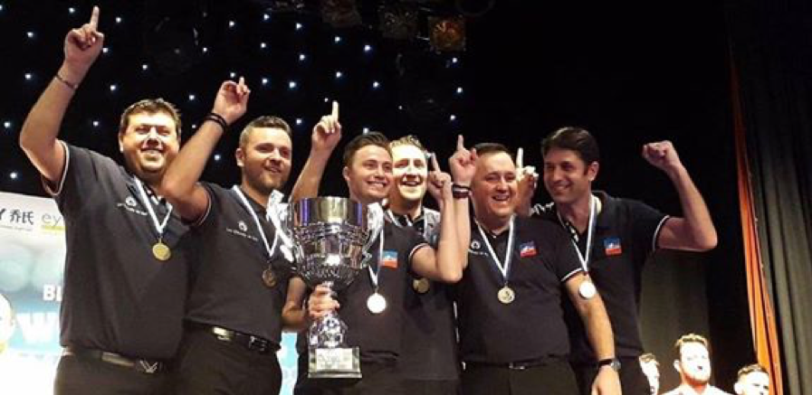 L'équipe de France championne du monde billard blackball 2018 à Bridlington